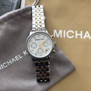 Michael Kors silver & gold watch